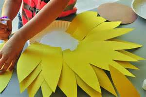 How To Make Paper Sunflowers - sunflower craft activity for the letter s