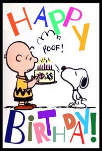 quot happy birthday quot charlie brown snoopy snoopy snoopy charlie brown