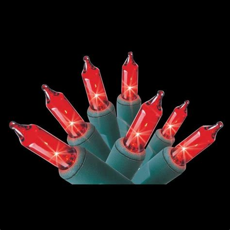 home accents holiday 100 light red mini light set 100l gr