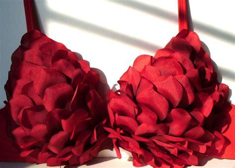 valentines day lingeri diy valentine s day petal bra a sparkly