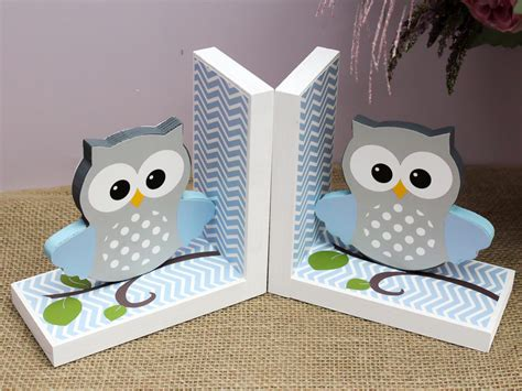 Nursery Owl Decor Baby Owl Bookends Owl Nursery Decor Baby Shower Gift