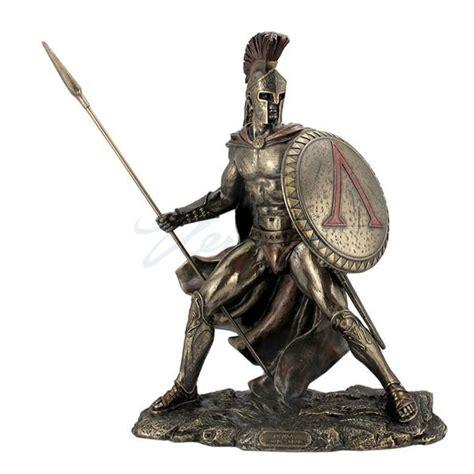 leonidas statue replica full spartan armor 804261 leonidas greek warrior with spear and shield statue great