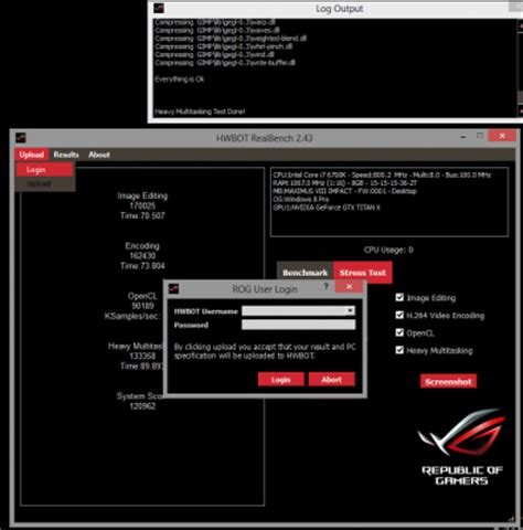 real bench guide realbench hwbot edition v2 43 rog republic of