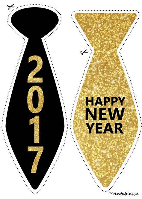 new year s eve photo booth props 2017 printable photo booth props new years eve ties f 246 r 2017