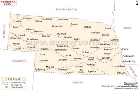 usa map nebraska nebraska rail map route