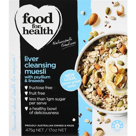 Almonds Liver Detox by Food For Health Muesli Liver Cleansing 475g Woolworths
