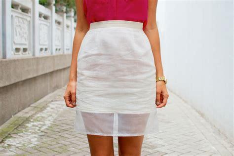 diy skirt diy sheer hem pencil skirt a pair a spare