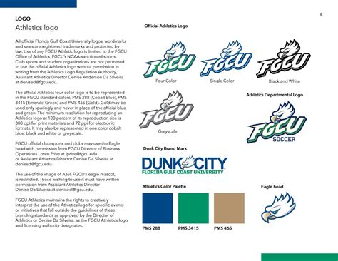 fgcu colors fgcu visual identity and brand guidelines 2017 by florida