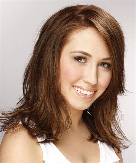 Brunette Hairstyles Wiyh Swept Away Bangs | brunette hairstyles wiyh swept away bangs medium