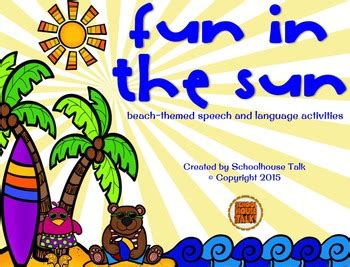 beach themed language arts activities fun in the sun beach themed speech and language