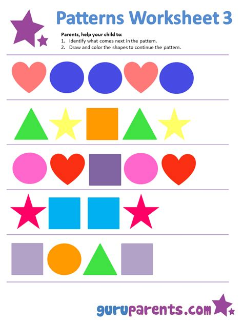 exles of pattern in mathematics simple pattern worksheets popflyboys