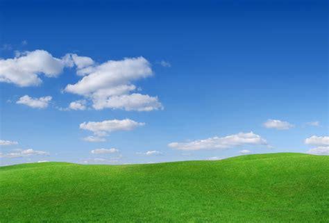 wallpaper field hill grass clouds sky desktop