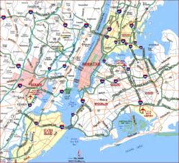Map Of New York City Suburbs by Highway Map Of New York City Metropolitan Area Highways