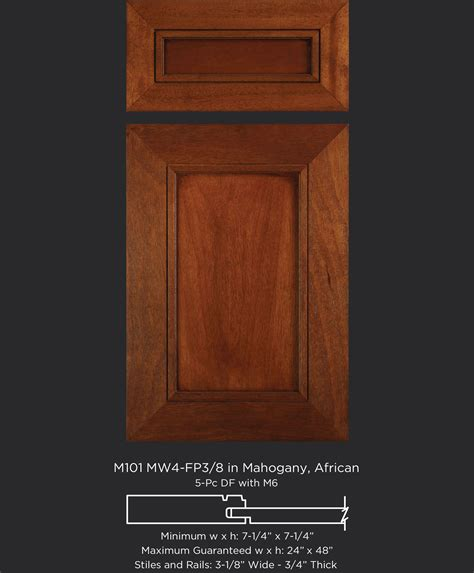 Cabinet Door Company M101 Mw4 Fp3 8 Mahogany Stained Taylorcraft Cabinet Door Company