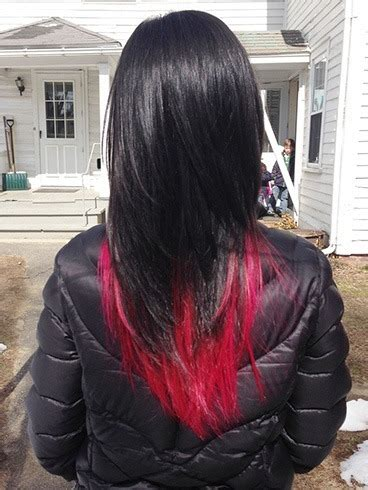 red  black hairstyles  latest color trend