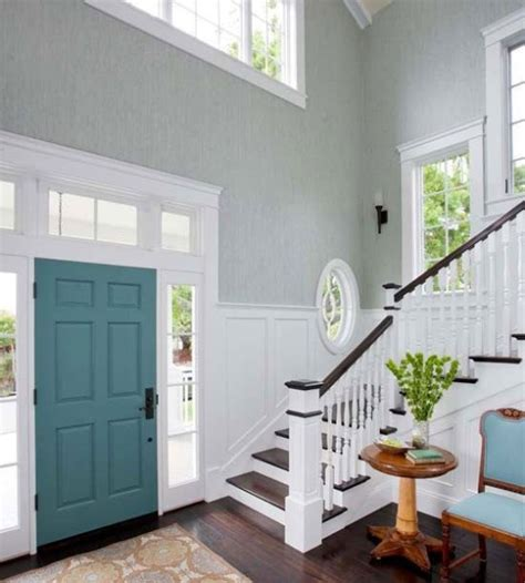 Door Accent Colors For Greenish Gray | pops of color for interior front doors avenue of joy