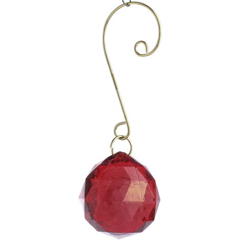 red acrylic globe gem ornament christmas ornaments