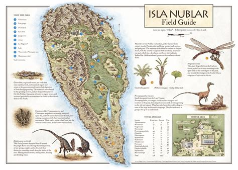 jurassic map america isla nublar field guide jurassic park map an print