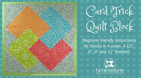 printable card trick instructions card trick quilt block from our free quilt block pattern