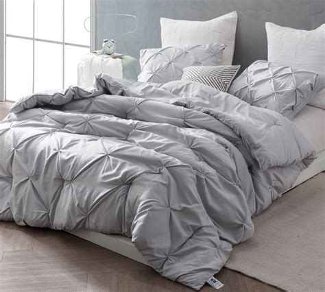 grey twin bedding glacier gray pin tuck twin comforter oversized twin xl