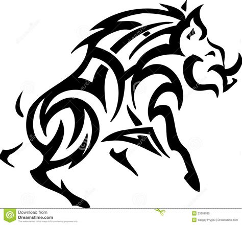 Tribal Style boar in tribal style vector illustration stock vector