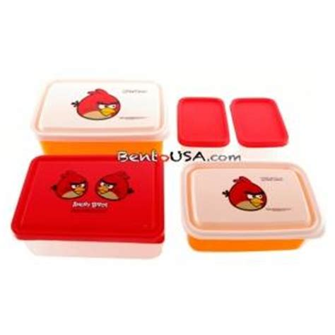 Sale Box Bento Sekat 5 Tutup bento lunch box angry birds 5 containers set all things for sale