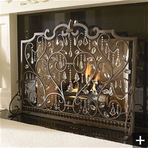 Country Fireplace Screens by Screen With Crystals Country Decor Ideas