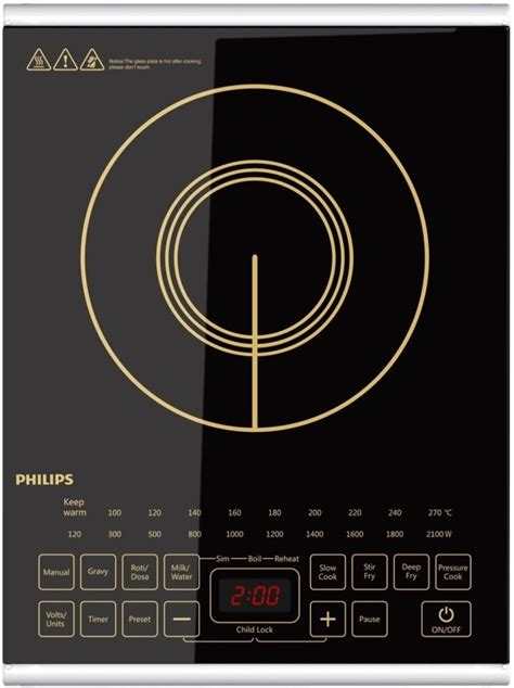 induction cooktop non magnetic philips hd4938 with non stick cookware set induction cooktop specifications compare n buy
