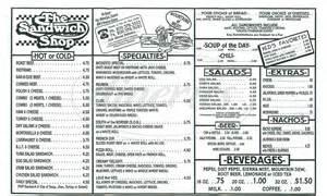 sandwich shop menu template the sandwich shop menu modesto dineries