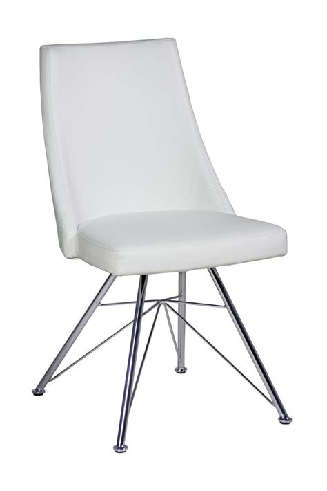 Black White Dining Chairs Faux Leather Dining Chairs In Black Or White Homegenies