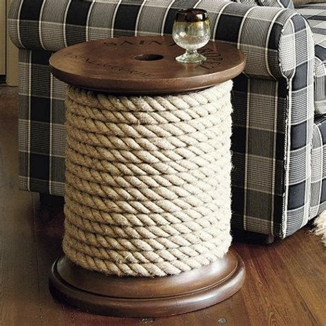 Spool Side Table Rope Spool Nautical Side Table Htons House Style Pinter