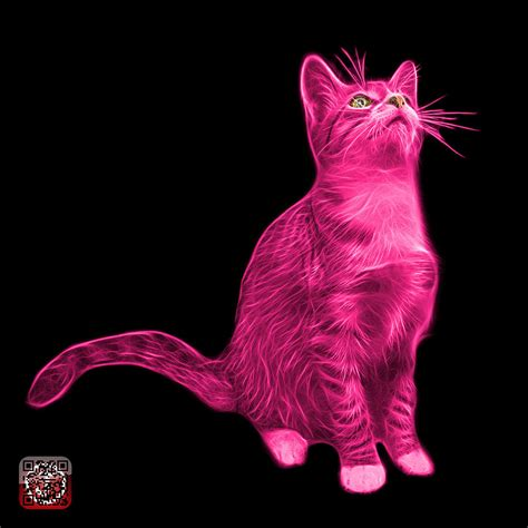 Cat Pink pink cat 3771 bb painting by ahn