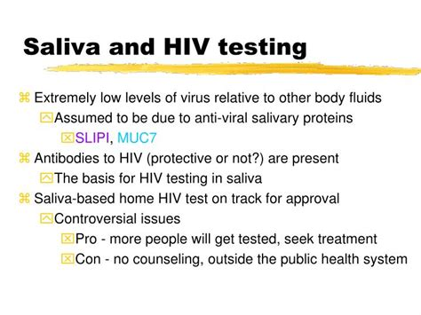 test hiv saliva ppt saliva as a diagnostic fluid powerpoint presentation