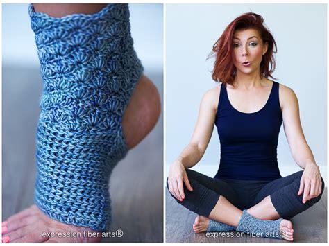 crochet pattern yoga prana crochet yoga sock pattern expression fiber arts