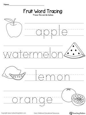 preschool workbooks word tracing animal alphabet word tracing workbook books fruit word tracing myteachingstation
