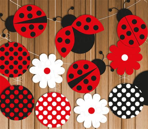 free printable ladybug birthday decorations ladybug printable party banner hanging decorations