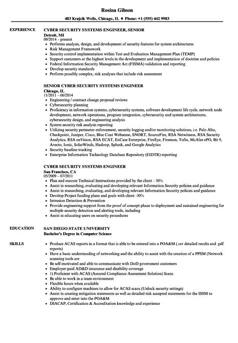 security system engineer resume sle cyber security risk assessment template image collections