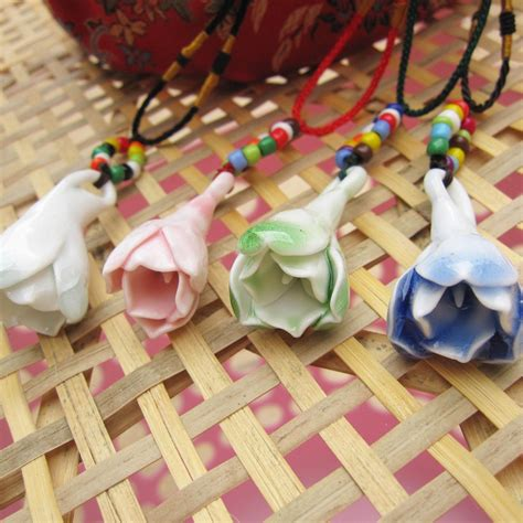 Handmade Fashion Accessories - aliexpress buy ceramic necklaces handmade flower