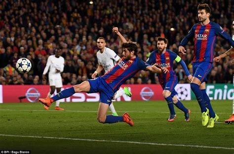 barcelona psg 6 1 barcelona 5 1 psg agg 6 5 barca complete comeback