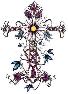 25 Best Ideas About Feminine Cross Tattoos On Pinterest Flower Cross Tattoos Designs