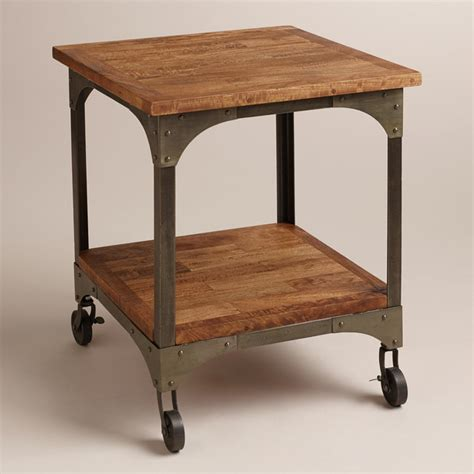 aiden end table industrial coffee tables by cost