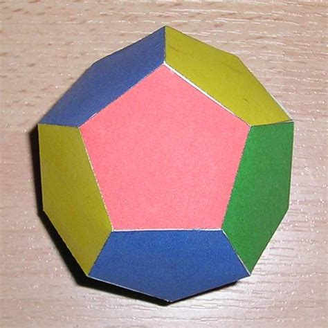 3d Shapes With Paper - paper dodecahedron