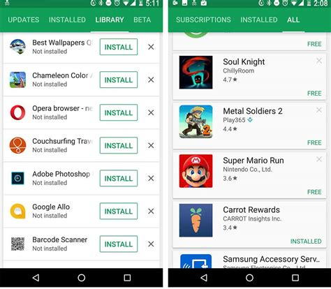 Play Store My Apps The My Apps Section Of The Play Store Has Been