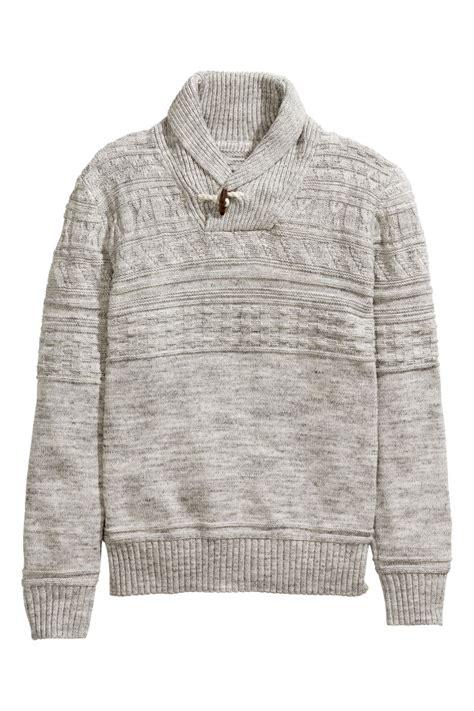 pattern knit sweater h m pattern knit sweater gray sale h m us