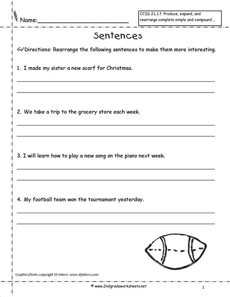 Writing Complete Sentences Worksheets by 18 Best Images Of Combining Sentences Worksheets 3rd Grade