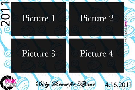 Baby Shower Photo Booth Templates template 4print landscape babyshower
