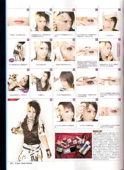 tutorial makeup visual kei visual kei makeup tutorial hair pinterest visual kei