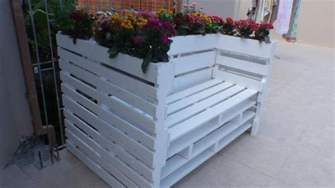 flower pot bench plans chic pallet bench with flower planters 99 pallets