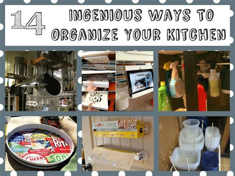 14 brilliant kitchen organizing ideas