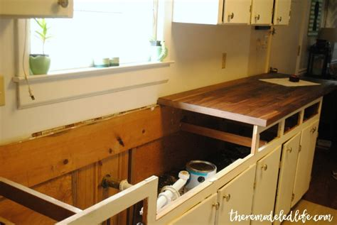 the remodeled installing butcher block counters